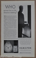 1930 HAMILTON Watch advertisement Van Buren pocket watch & G. Curtis wristwatch