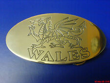 SILVER COLOUR WELSH DRAGON WALES BELT BUCKLE POLISHED ALUMINIUM CNC ENGRAVED
