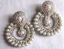 Stunning-Indian-Bollywood-Bridal-Chandbala-Chandelier-White-Pearl-Earrings