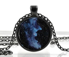 Black Witch Head Nebula Pendant - Galaxy Jewelry - Space Necklace - Cool Gifts