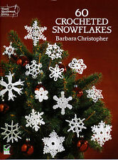 60 Delicate Christmas Crocheted Snowflakes  Each One Unique Crochet Pattern Book