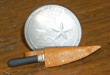 Dollhouse Miniature Western Cowboy Tan Bowie Knife 1:12 Right Pt Hunting Alamo