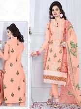 Radiant Cotton Embroidered Dress Material With Chiffon Dupatta D.NO N1032