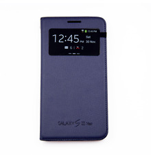 Flip Cover Custodia Libro Book S View Samsung Galaxy S3 Neo Originale Blu Navy
