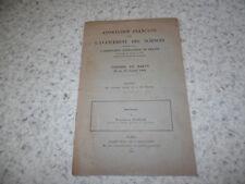 1931.Congrès de Nancy.discours.science.Maurice de Broglie (autographe)