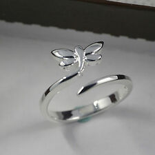 925 Silver Adjustable dragon fly Ring Women Jewellery thumb droplet wrap UK gift
