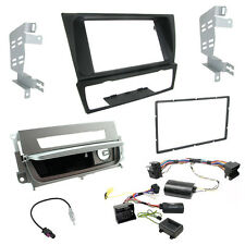 BMW 3 Series E90 Double Din Radio Steering Control Car Stereo Fascia Fitting Kit