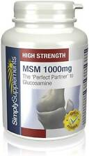Simply Supplements MSM 1000mg 360 Tablets (S626)