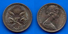 Australia 5 Cents 1969 UNC Animal Queen Cent Coin Free Shipping Worldwide Paypal