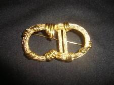 Fabulous Vintage Christian Dior Initial Logo Goldtone Pin