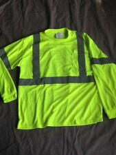 PIP 313-1300 LY ELECTRIC YELLOW POLY HIGH VISIBILITY REFLECTIVE SHIRT SIZE M