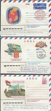 Three Russian Letter sheets various Issues. Covers,  035