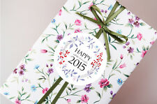 10 sheets Jewerly Engagement Wedding Gift wrapping paper - Violet Wild flowers
