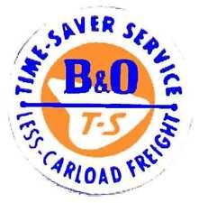 HO B&O BOX CAR ADHESIVE BACK for GILBERT HO/AMERICAN FLYER HO TRAINS