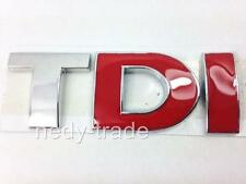 TDI Chrome Red Badge Emblem Logo for VW Touran Sharan Caddy Transporter T4 T5 T6
