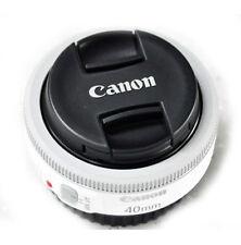 Canon EF 40mm f/2.8 STM Pancake Lens White - Bulk Package