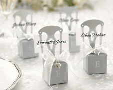 10 Silver Chair Wedding Truffle Candy Gift Favour Boxes