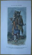 1875 print CHIEF OF WARM SPRINGS (TENINO) INDIANS IN WAR COSTUME, OREGON (#178)