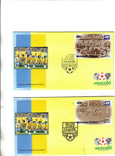 2 1986 world cup first day covers featuring brazil winners in 1958 and 1962.