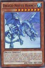 Drago Notte Bianca - White Night Dragon YU-GI-OH! BP02-IT083 Ita RARA MOSAICO 1E
