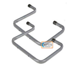 2 x 200mm DOUBLE ARM STORAGE HOOK Ladder Bike Garage Shed Wall Mounted Bracket