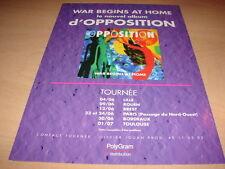 OPPOSITION - WAR BEGINS AT HOME!!!!!!PUBLICITE / ADVERT