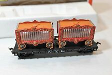 Vintage Life-Like HO Scale New York Central NYC Flat Car with Circus Wagons