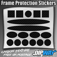 Carbon Cycle cable rub frame protector patches Stickers Vinyl MTB ROAD BMX BIKE