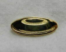 Collectible Gold Tone Frisbee Golf Squeeze Back Lapel Collar Pin Tac New