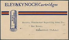 "ELEY & KYNOCH ""GUN"" CARTRIDGES INDIA ARMS DEALER COVER 1933 XF RARE BS4644"