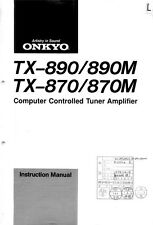 Onkyo Integra TX-870 Tuner Owners Instruction Manual
