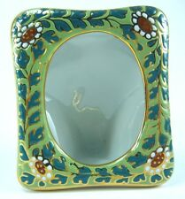 PICTURE FRAME GIFT THAI BENJARONG PORCELAIN POTTERY HANDCRAFT GREEN LIMITED