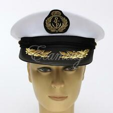 Adult Yacht Boat Captain Hat Navy Cap Ship Sailor Costume Party Dress Cosplay