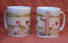 JACK RUSSELL TERRIER DOG watercolour Mug Off to Dog Show Sandra Coen sublimation