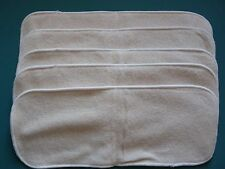 New Lot of Five 4layer Hemp Inserts for Cloth Diapers/Nappy EB2007