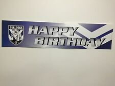 Official NRL Canterbury Bulldogs Happy Birthday Banner Poster