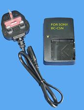 GENERIC CHARGER BC-CSN FOR SONY NP-BN1 DSC-W350 W380 TX20 TX5 W330 WX80 30WX