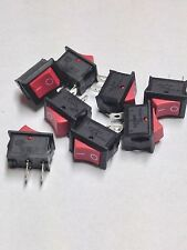 ROCKER SWITCH RED ON OFF 2 PINS 12VDC 240VAC 10pcs