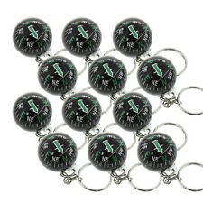 Liquid Filled Ball Compass Keychain Hiking Camping Outdoor Survival - Pack of 12