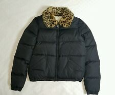 NWT RALPH LAUREN DENIM & SUPPLY LEOPARD COLLAR PADDED JACKET BLACK SIZE XS