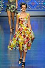 DOLCE & GABBANA New silk runway dress onion print 42 Italy 1600 Eur