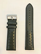 Original Tissot V8 Black Leather 22mm Strap Band for T361316A T039417A T106417A