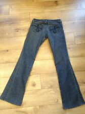 JUICY COUTURE Vintage Distressed Denim Heart Pocket Stretch Bootcut Jean 27