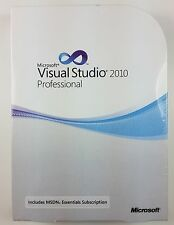 MS Visual Studio 2010 PROFESSIONAL PRO 32/64 bit DVD BOX INGLESE NUOVO c5e-00521