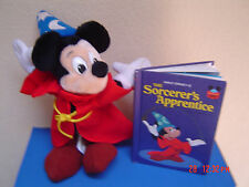 Mickey Mouse Sorcerer's Apprentice: Stuffed Toy & Book 1973 Disney