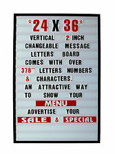 NEW 24 X 36 CHANGEABLE LETTER MESSAGE SIGN MENU PRICE MARQUEE READER BOARD