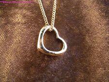 Anhänger 24 Karat Gold Herz Liebe Love Halskette Schmuck Damen Valentinstag