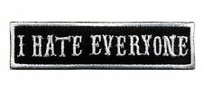 I Hate Everyone patch badge car club CC motorcycle biker MC vest jacket