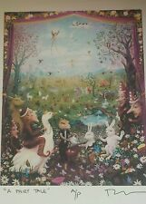 """New Mexico artist Robert Anderson Artist Proof Signed Print """"A Fairy Tale"""", COA"""