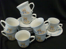 TIENSHAN COUNTRY BEAR CUPS AND SAUCERS 8 EACH FREE SHIPPING